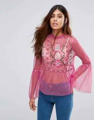Miss Selfridge Embroidered Blouse