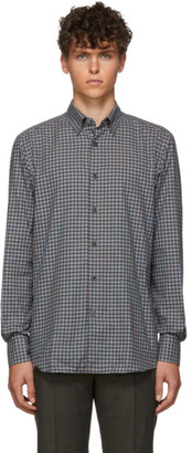 Ermenegildo Zegna Grey Check Dress Shirt