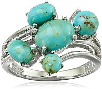 Sterling Turquoise Bohemian Multi-Bypass Ring