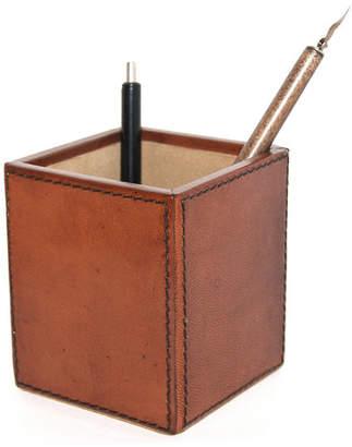 Tan Leather Pen Holder