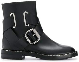 Casadei buckled cross-strap ankle boots