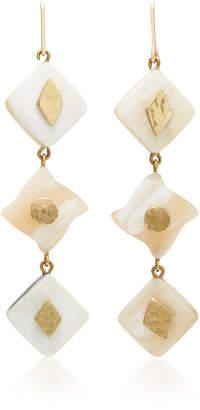 Ashley Pittman Julikana Light Horn Bronze Earrings