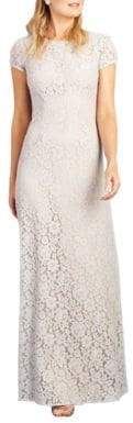 Donna Morgan Cap Sleeve Lace Gown