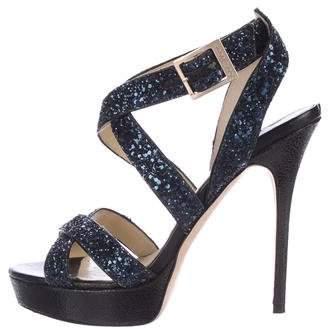 Jimmy Choo Vamp Glitter Sandals