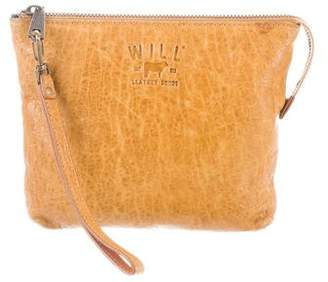 Will Leather Goods Leather Zip Clutch