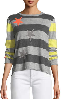 LISA TODD Plus Size Lucky Star Striped Cotton Sweater