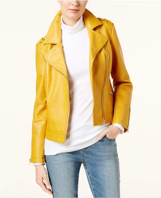 INC International Concepts I.n.c. Faux-Leather Moto Jacket