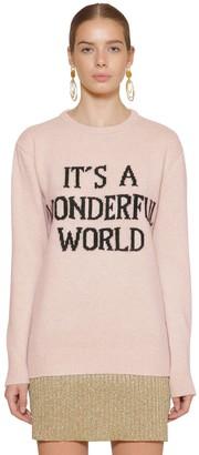 Alberta Ferretti Long Cashmere Blend Knit Sweater