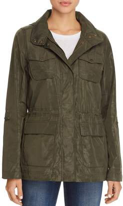 Vince Camuto Coated Camo Raincoat