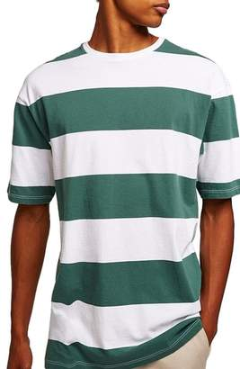 Topman Wide Stripe Classic Fit T-Shirt