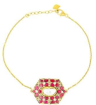 Amrapali 18K Diamond & Multistone Charm Bracelet