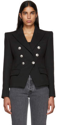 Balmain Black Six-Button Breasted Blazer