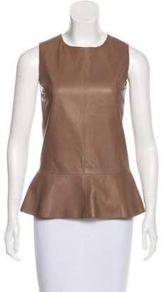 Brunello Cucinelli Leather Sleeveless Top