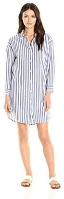 Velvet by Graham & Spencer Women's Woven Stripe Shirtdress