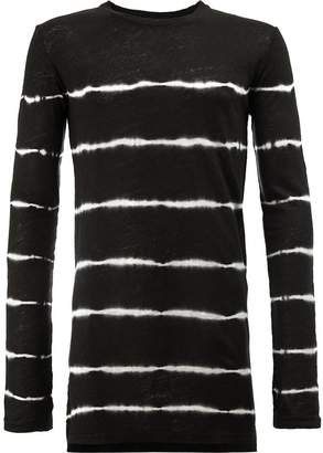 Balmain striped two-tone T-shirt