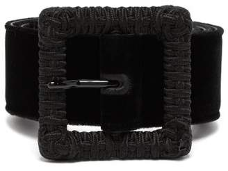 Saint Laurent Velvet Belt - Womens - Black