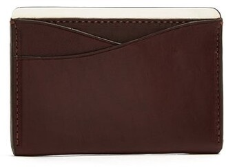 Lee Passavant and Passavant And Sterling Silver And Leather Cardholder - Mens - Burgundy