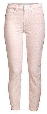 Current/Elliott Women's The High-Rise Leopard Stiletto Crop Jeans