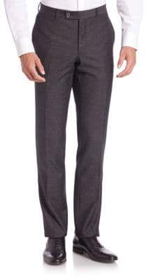 Saks Fifth Avenue Modern Straight Leg Wool Blend Trousers