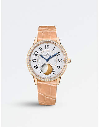 Jaeger-LeCoultre Rendez-vous moon pink-gold and alligator watch