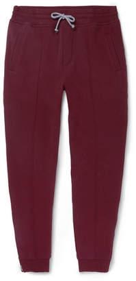 Brunello Cucinelli Tapered Fleece-Back Stretch-Cotton Jersey Sweatpants