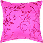 """Rizzy Home Rizzy home T04470 18"""" x 18"""" hot pink polyester/ silk fabric decorative filled pillow"""