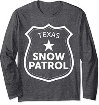 Texas Snow Patrol Long Sleeve T-Shirt Funny Ski Slopes Gift