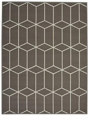 Grey Homemaker Blocks Geometric Rug