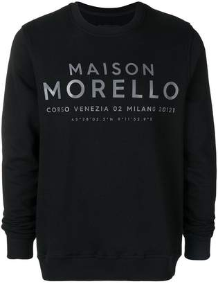 Frankie Morello printed logo lettering sweatshirt