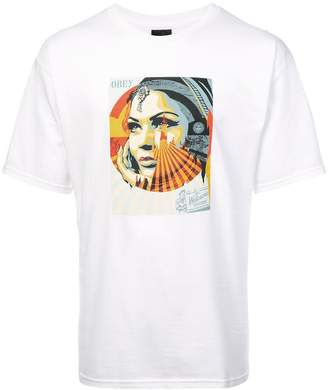 Obey Target Exceptions print T-shirt