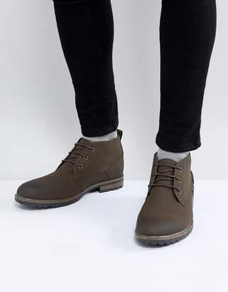New Look Chukka Boot In Dark Brown