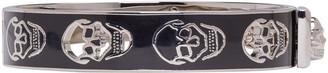 Alexander McQueen Black & Silver Cut-Out Skull Bracelet $270 thestylecure.com