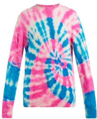 The Elder Statesman Tie Dyed Cashmere Sweater - Womens - White Multi