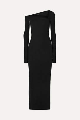 Alix Morris Ribbed Stretch-modal Jersey Maxi Dress - Black