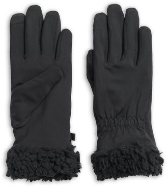 Cuddl Duds Women's Space Dyed Flex Fit Faux Sherpa Cuff Gloves