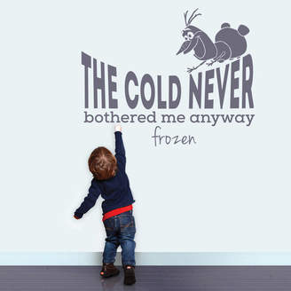 Wall Art 'The Cold Never Bothered Me Anyway' Wall Sticker