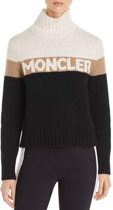 Moncler Color-Block Turtleneck Logo Sweater