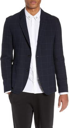 HUGO Areltu1921 Slim Fit Windowpane Sport Coat