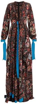 Etro Scorpione silk crepe de Chine gown