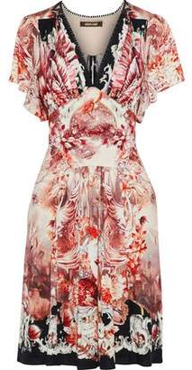 Roberto Cavalli Printed Silk And Wool-Blend Jersey Dress