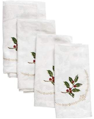 Waterford Set of 4 Holiday Dinner Napkins