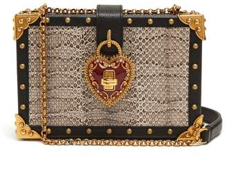 Dolce & Gabbana Heart padlock stud-embellished box bag