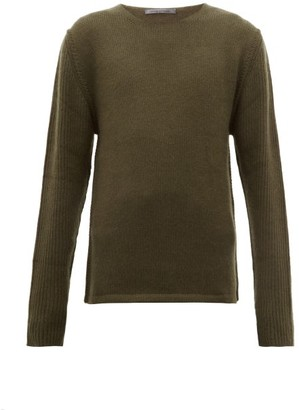 Denis Colomb Ribbed Sleeves Cashmere Sweater - Mens - Khaki