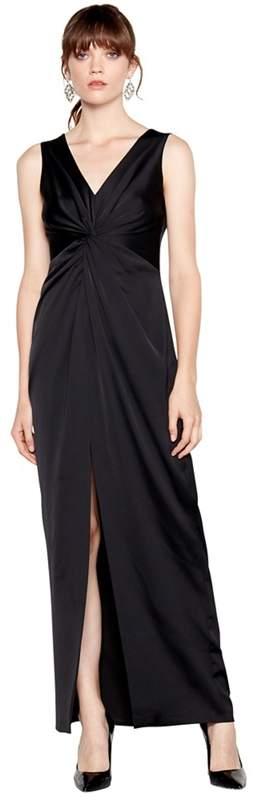 Black 'Celia' Satin Twist Front Maxi Dress