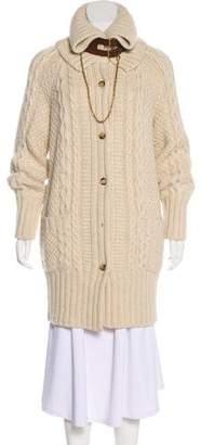 Alexander McQueen Wool-Blend Turtleneck Cardigan
