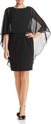 Adrianna Papell Chiffon Overlay Dress