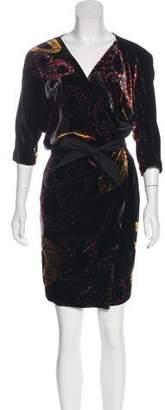 Diane von Furstenberg Velvet Print Dress
