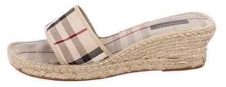 Burberry Espadrille Slide Sandals