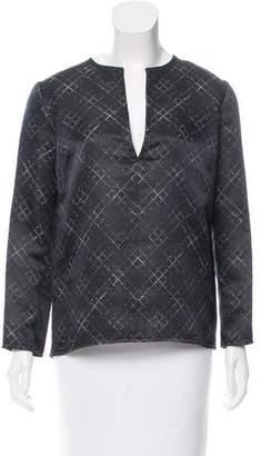 Wes Gordon Printed Wool & Silk-Blend Top