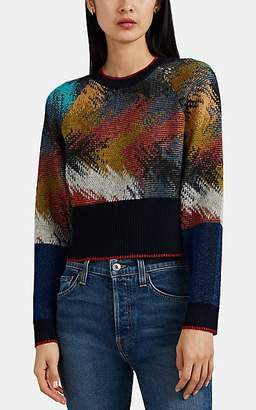 Missoni Women's Space-Dyed Jacquard-Knit Crop Sweater
